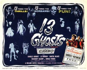 Poster from 1959 film Thirteen Ghosts